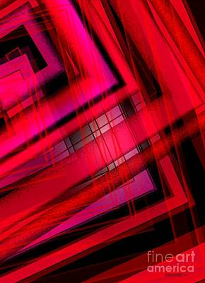 Vertical Digital Art - Red Over Red Art  by Mario Perez
