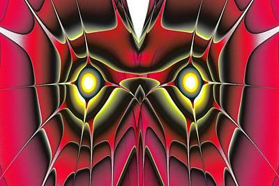 Red Owl Print by Anastasiya Malakhova