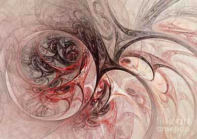 Floral Digital Art Digital Art Digital Art - Red Passion - Abstract Art by Martin Capek