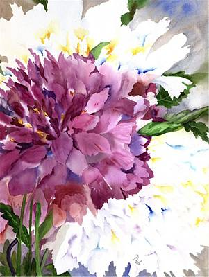 Water And Plants Painting - Red Peony by Neela Pushparaj