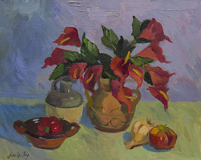 Anthurium Painting - Red Pepper by Diane McClary