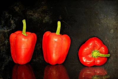 Red Peppers In A Row Original by Toppart Sweden