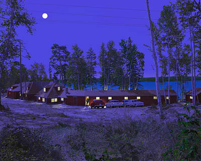 Red Pines Print by Mark Didine