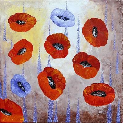 Red Poppies  Print by Georgeta  Blanaru
