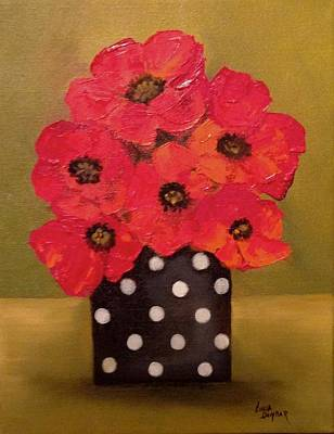 Still Life Painting - Red Poppies by Linda Dunbar