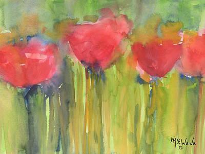 Red Poppy Elegance Print by Kathleen McElwaine