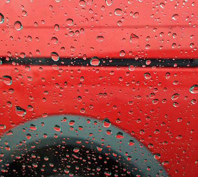 Red Rain Print by Don Spenner