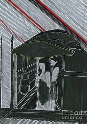Red Rain Print by First Star Art