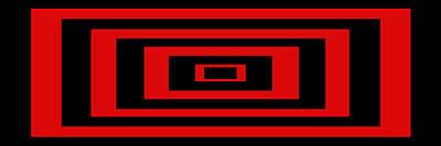 Mike Mcglothlen Modern Art Digital Art - Red Rectangle by Mike McGlothlen