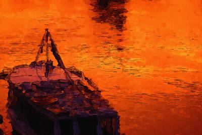 Void Painting - Red Rider by Ayse Deniz