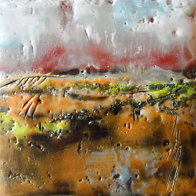 Abstract Painting - Red River No. 4 by Victoria Primicias
