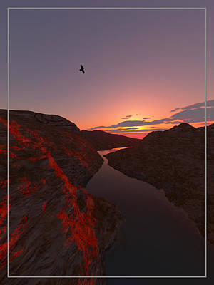 Soaring Mixed Media - Red River... by Tim Fillingim