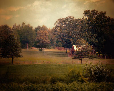 Barn In Tennessee Photograph - Red Roadside Barn by Jai Johnson
