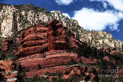 Red Rock At Oak Creek Print by John Rizzuto