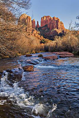 Red Rock Crossing Winter Print by Mary Jo Allen