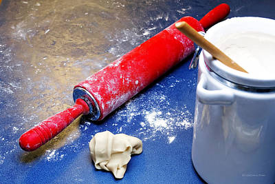 Food And Beverage Photograph - Red Rolling Pin by Erich Grant