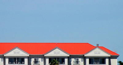 Red Roof Resort Print by Randall Weidner