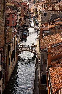 Red Roofs Of Venice Print by Georgia Mizuleva