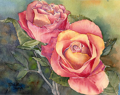 Red Roses Painting - Red Roses by Maddy Swan