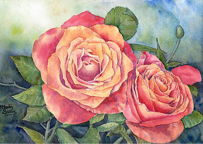 Red Roses Painting - Red Roses No.2 by Maddy Swan