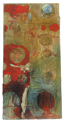 Red Scroll Original by Susan Parise