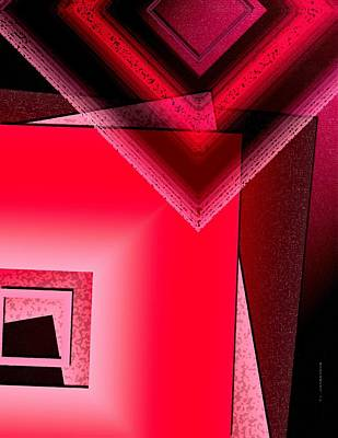 Abstract Artwork Digital Art - Red Shapes by Mario Perez