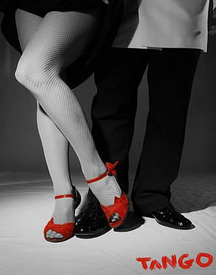 Ballroom Mixed Media - Red Shoes by Doug Walker