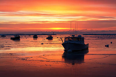 Red Skies In Rye Print by Eric Gendron