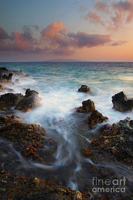 Red Sky Over Kahoolawe . .  Print by Mike  Dawson