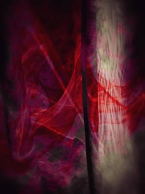 Red Smoke Print by Dennis James