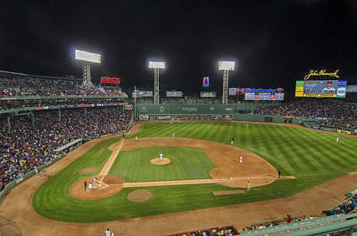 Baseball Photograph - Red Sox Vs Yankees Fenway Park by Donna Doherty