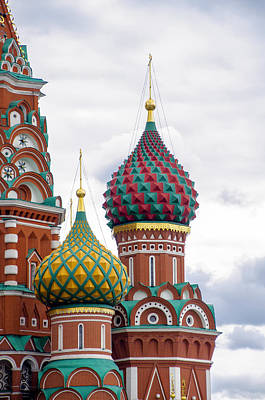 Red Square - St Basils - Moscow Russia Print by Jon Berghoff