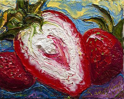 Red Strawberries Print by Paris Wyatt Llanso