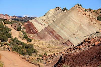 Bullfrog Photograph - Red Striped Desert by Aidan Moran