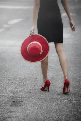 50s Photograph - Red Sun Hat by Joana Kruse