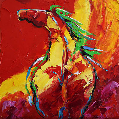 Painting - Red Sun Horse 20  2014 by Laurie Pace