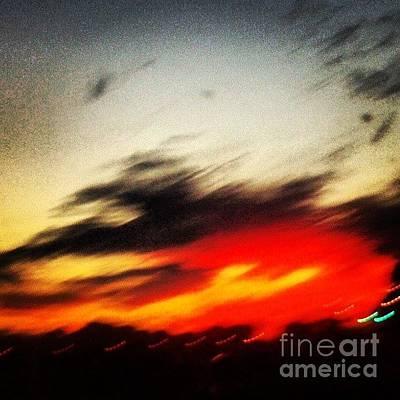 Red Sunset Original by Genevieve Esson
