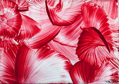 Encaustic Painting - Red Swirls Background by Simon Bratt Photography LRPS
