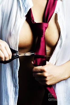 Red Tie Print by Jelena Jovanovic