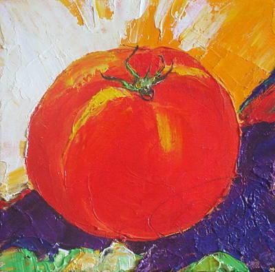 Red Tomato Print by Paris Wyatt Llanso