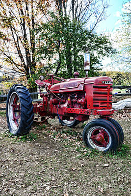 Red Tractor 1 Print by Paul Ward