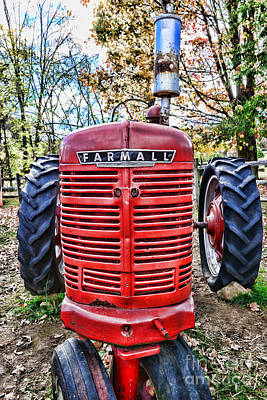 Red Tractor Print by Paul Ward