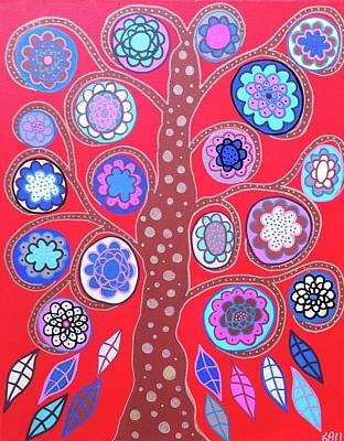 Mexican Painting - Red Tree by Kerri Ambrosino GALLERY