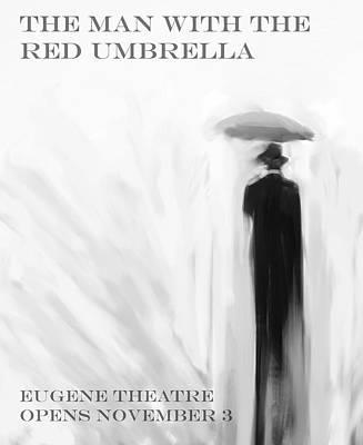 Umbrellas Digital Art - Red Umbrella by H James Hoff
