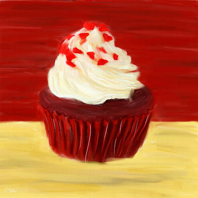 Red Velvet Print by Lourry Legarde