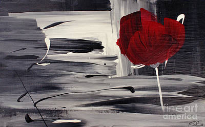 Abstract Realism Painting - Red Velvet - Rouge Velours by Aimelle