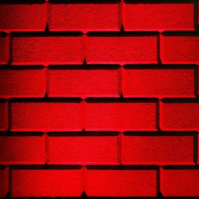 Red Wall Print by Semmick Photo