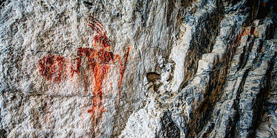 Prehistoric Photograph - Red Warrior by Chad Dutson
