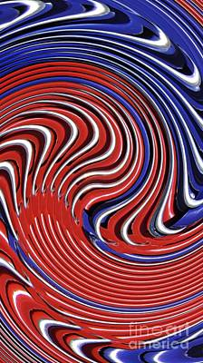 July 4 Digital Art - Red White And Blue by Sarah Loft