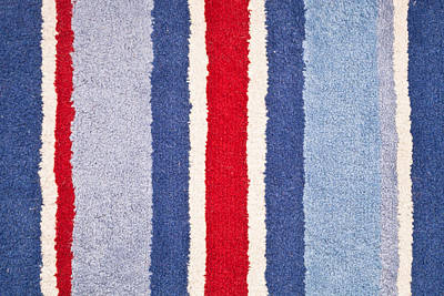 Oblique Photograph - Red White And Blue by Tom Gowanlock